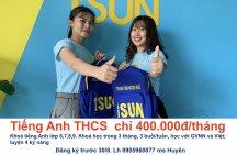 Tiếng Anh THCS, THPT ưu đãi lớn chỉ còn 400.000đ/tháng