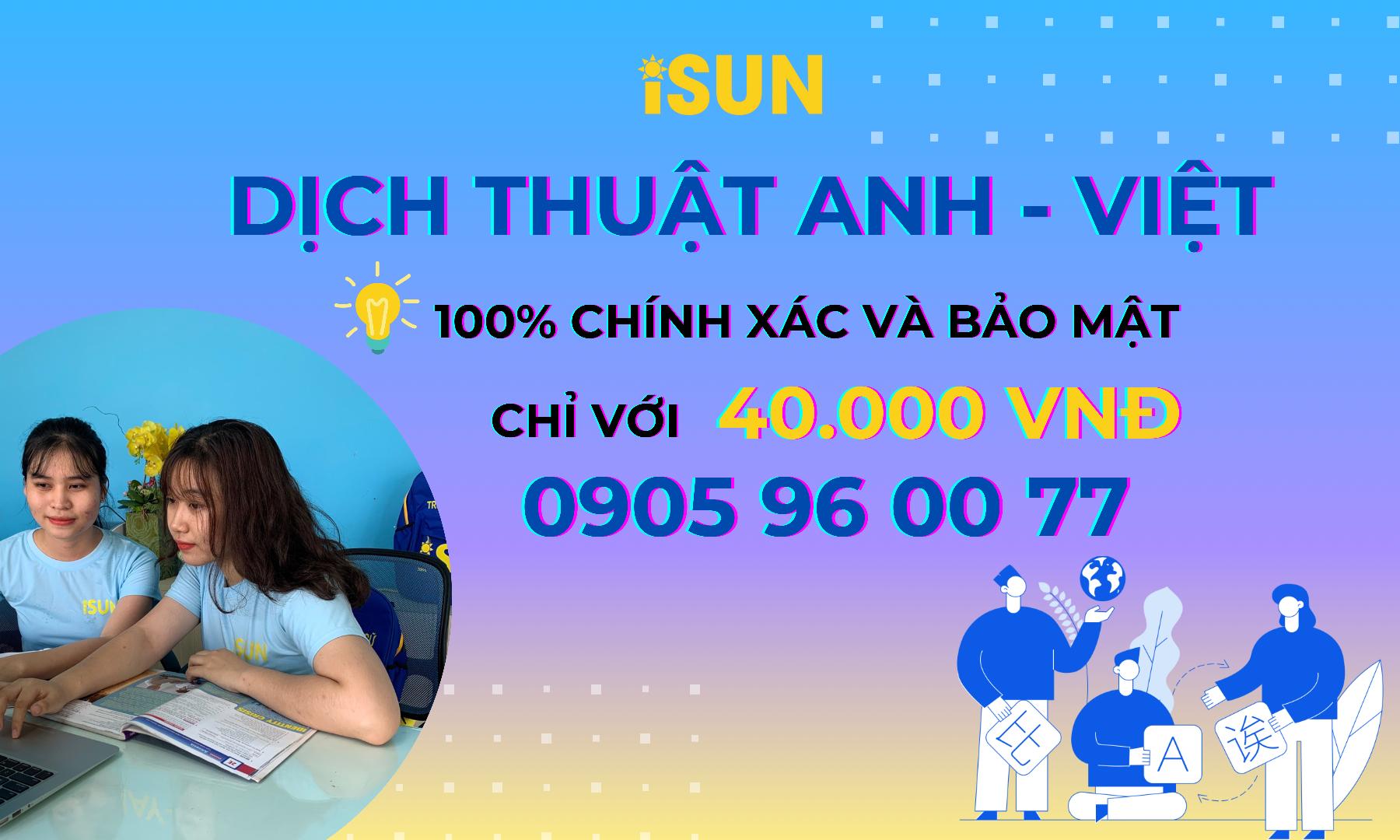 Dịch thuật văn bản Anh - Việt giá rẻ