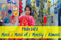 Phân biệt Most – Most of – Mostly – Almost