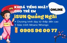 Khóa tiếng Nhật online cho trẻ em tại Quảng Ngãi