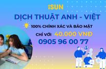 Dịch tiếng Anh sang tiếng Việt giá rẻ
