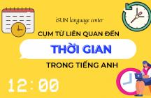 Cụm từ liên quan đến thời gian trong tiếng Anh