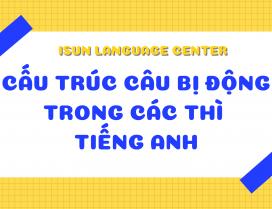 Cấu trúc câu bị động trong các thì tiếng Anh
